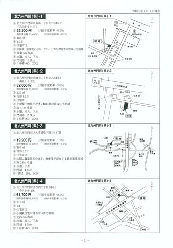 福岡県地価調査価格要覧内容
